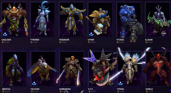 Heroes of the Storm propose un panel de personnages issus des univers Blizzard, de Thrall à Jim Raynor en passant par Tyrael.